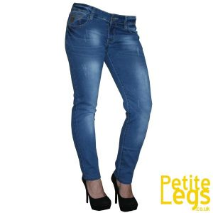 Louise Slim Straight Leg Jeans | UK Size 8 | Petite Leg Inseam 26 inches